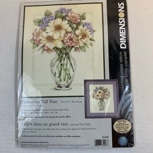 Dimensions Counted Cross Stitch Kit Flowers Vase
